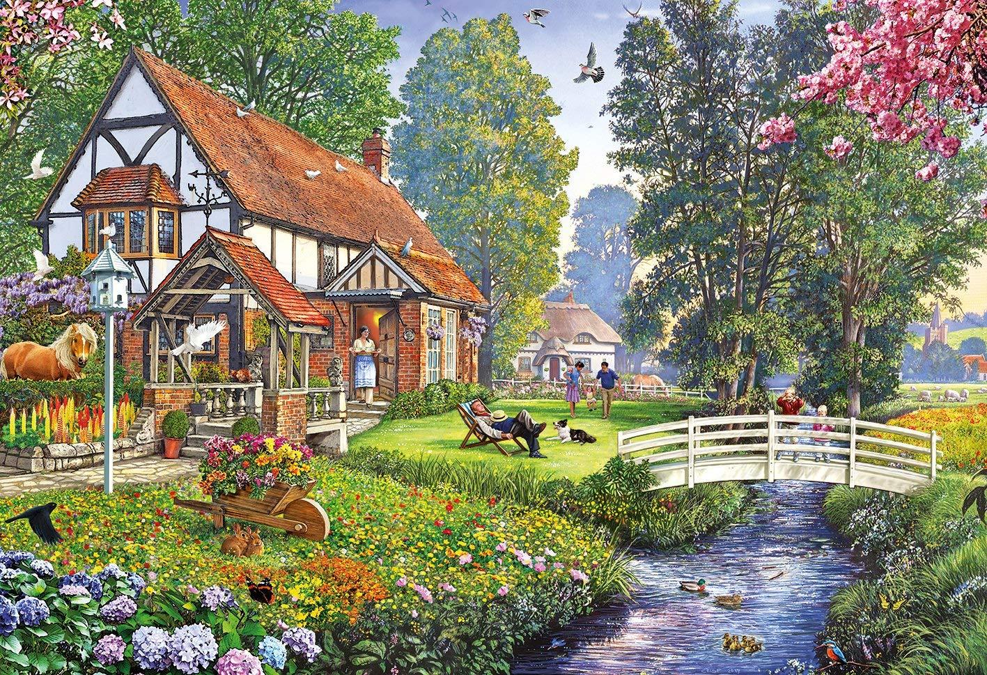 Puzzle Steve Crisp - Deckchair Dreaming Gibsons-G3114 500 Teile Puzzle - Cottages und Chalets ...