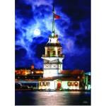 Puzzle  Gold-Puzzle-60126 Leanderturm, Istanbul, Türkei
