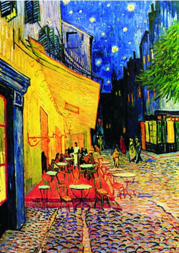 Puzzle  Gold-Puzzle-60539 Vincent van Gogh: Caféterrasse am Abend