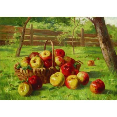 Puzzle  Gold-Puzzle-60768 Karl Vikas: Die Apfelernte