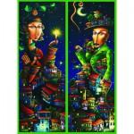 Gold-Puzzle-61123 2 Puzzles - Nächtliches Rendezvous