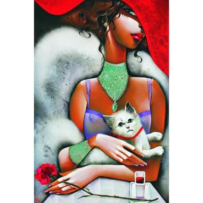 Puzzle  Gold-Puzzle-61284 Die Frau mit der Katze