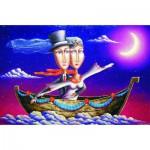 Puzzle  Gold-Puzzle-61321 Die Hochzeitsreise