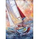 Puzzle  Gold-Puzzle-61505 Three Seamen on a Boat