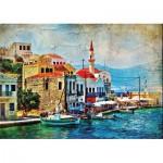 Puzzle  Gold-Puzzle-61529 A Pretty Island in Mediterraenan Sea