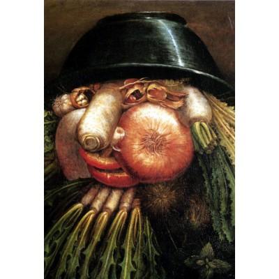 Puzzle  Grafika-Kids-00052 XXL Teile - Arcimboldo Giuseppe: Der Gemüsegärtner