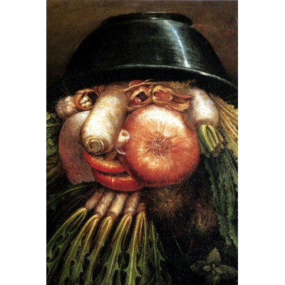 Puzzle  Grafika-Kids-00054 Arcimboldo Giuseppe: Der Gemüsegärtner