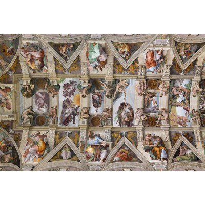 Puzzle  Grafika-Kids-00077 Michelangelo: Die Sixtinische Kapelle