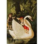 Puzzle  Grafika-Kids-00113 XXL Teile - Hansel und Gretel, illustration von Carl Offterdinger