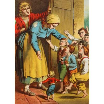 Puzzle  Grafika-Kids-00147 Der kleine Däumling, Illustration von Carl Offterdinger