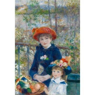 Puzzle  Grafika-Kids-00164 XXL Teile - Auguste Renoir: Zwei Schwestern auf der Terrasse, 1881