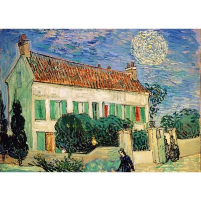 Puzzle  Grafika-Kids-00217 Magnetische Teile - Van Gogh Vincent: La Maison Blanche, la Nuit, 1890