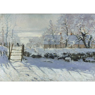Puzzle  Grafika-Kids-00226 Magnetische Teile - Claude Monet: Die Elster, 1868-1869