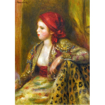 Puzzle  Grafika-Kids-00263 Magnetische Teile - Renoir Auguste: Odalisque, 1895