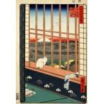 Puzzle  Grafika-Kids-00265 XXL Teile - Hiroshige Utagawa: Asakusas Reisfelder und Torinomachi-Fest, 1857