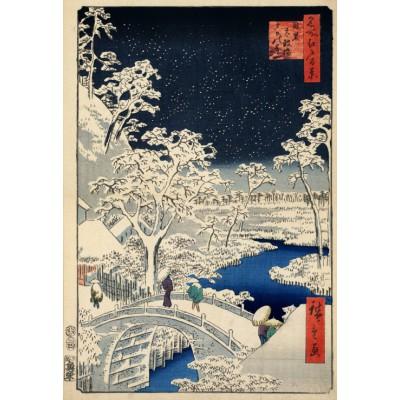 Puzzle  Grafika-Kids-00270 XXL Teile - Hiroshige Utagawa: Trommelbrücke und Hügel der untergehenden Sonne, 1857