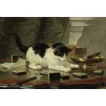 Puzzle  Grafika-Kids-00276 XXL Teile - Henriette Ronner-Knip: Spielende Katze