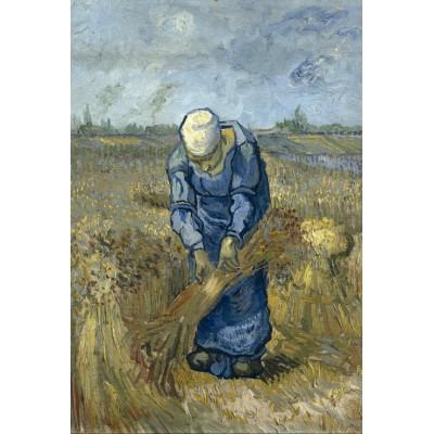 Puzzle  Grafika-Kids-00299 Vincent van Gogh: Bäuerin beim Strohschneiden (nach Millet)