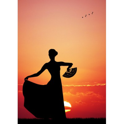 Puzzle  Grafika-Kids-00392 Magnetische Teile - Flamenco at Sunset