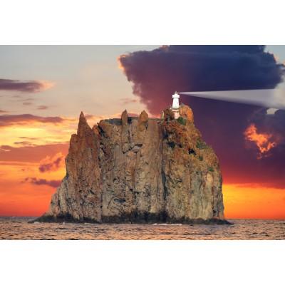 Puzzle  Grafika-Kids-00413 XXL Teile - Stromboli Lighthouse, Italy