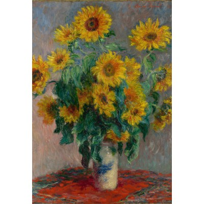 Puzzle  Grafika-Kids-00460 XXL Teile - Claude Monet: Bouquet of Sunflowers, 1881
