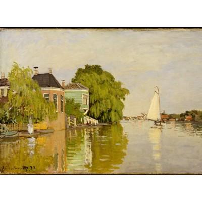 Puzzle  Grafika-Kids-00480 Claude Monet: Houses on the Achterzaan, 1871