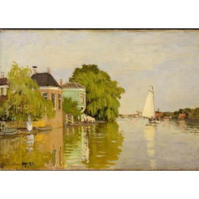 Puzzle  Grafika-Kids-00483 Magnetische Teile - Claude Monet: Houses on the Achterzaan, 1871
