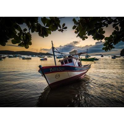 Puzzle  Grafika-Kids-00615 Sonnenuntergang auf dem Marina
