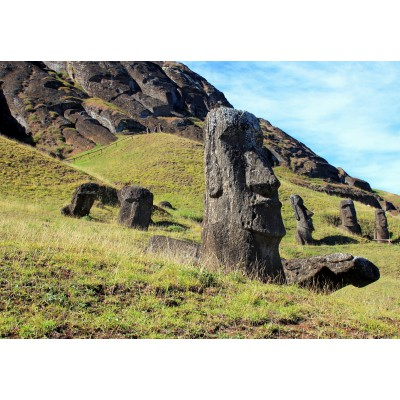 Puzzle  Grafika-Kids-00626 Moai at Quarry, Osterinsel