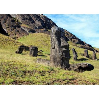 Puzzle  Grafika-Kids-00627 Moai at Quarry, Osterinsel