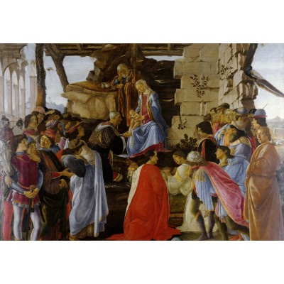 Puzzle  Grafika-Kids-00691 Sandro Botticelli: Adoration of the Magi (Zanobi Altar), 1475