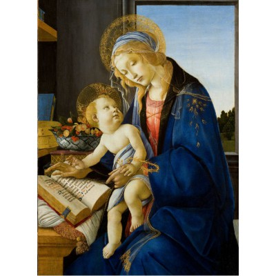 Puzzle  Grafika-Kids-00696 Sandro Botticelli: Madonna des Buches, 1480