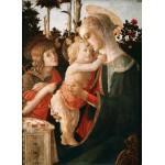 Puzzle  Grafika-Kids-00702 Sandro Botticelli: Jungfrau und das Kind mit Johannes, 1470-1475