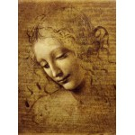 Puzzle  Grafika-Kids-00711 Leonardo da Vinci: Gesicht der Giovane Fanciulla, 1508