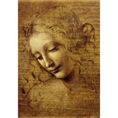 Puzzle  Grafika-Kids-00712 Leonardo da Vinci: Gesicht der Giovane Fanciulla, 1508