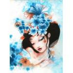 Puzzle  Grafika-Kids-00737 Misstigri: Blue Flowers