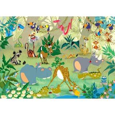 Puzzle  Grafika-Kids-00876 François Ruyer: Jungle