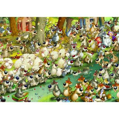Puzzle  Grafika-Kids-00916 François Ruyer: Wölfe!
