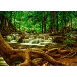 Puzzle  Grafika-Kids-00928 Magnetische Teile - Wasserfall im Wald