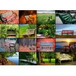 Puzzle  Grafika-Kids-00944 Collage - Bänke