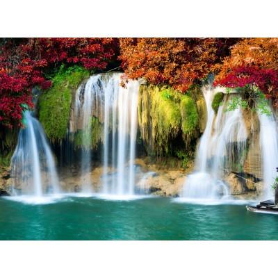 Puzzle  Grafika-Kids-00984 Wasserfall im Wald