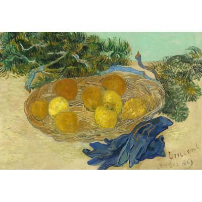 Puzzle  Grafika-Kids-01003 XXL Teile - Vincent Van Gogh - Still Life of Oranges and Lemons with Blue Gloves, 1889