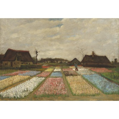 Puzzle  Grafika-Kids-01004 Vincent Van Gogh - Flower Beds in Holland, 1883