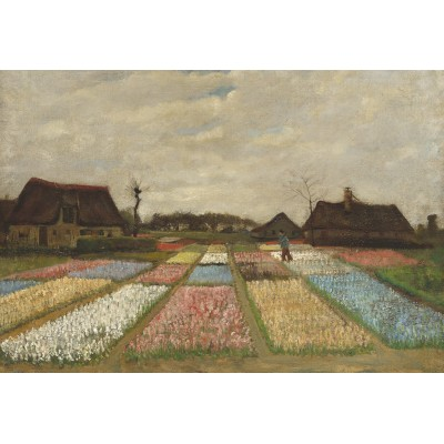 Puzzle  Grafika-Kids-01007 XXL Teile - Vincent Van Gogh - Flower Beds in Holland, 1883