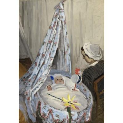Puzzle  Grafika-Kids-01013 Claude Monet - Die Wiege, Camille mit dem Sohn des Künstlers Jean, 1867