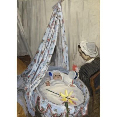Puzzle  Grafika-Kids-01014 Magnetische Teile - Claude Monet - Die Wiege, Camille mit dem Sohn des Künstlers Jean, 1867