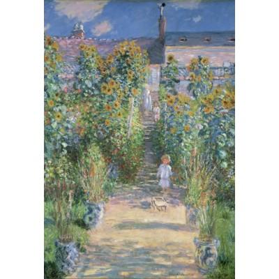 Puzzle  Grafika-Kids-01020 XXL Teile - Claude Monet - Garten des Künstlers in Vétheuil, 1880