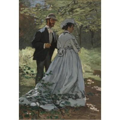 Puzzle  Grafika-Kids-01024 XXL Teile - Claude Monet - Bazille und Camille, 1865