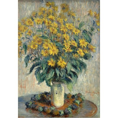 Puzzle  Grafika-Kids-01025 Claude Monet - Jerusalem Artischocke Blumen, 1880