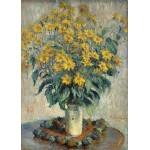 Puzzle  Grafika-Kids-01026 Magnetische Teile - Claude Monet - Jerusalem Artischocke Blumen, 1880